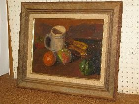 323: SUSAN GRISELL OIL 'STILL LIFE WITH MUG'