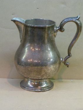 311: FISHER 'EARLY GEORGIAN' STERLING WATER PITCHER