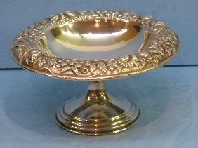366: S KIRK & SON REPOUSSE STERLING COMPOTE