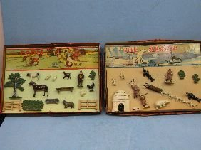 370: 2 VINTAGE TIMPO ENGLISH LEAD TOY SETS
