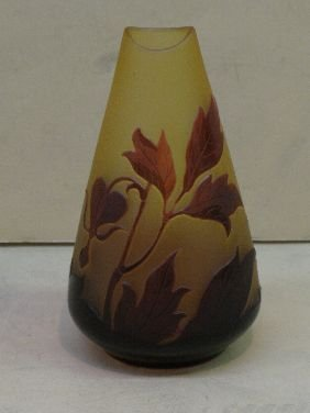 254: D'ARGENTAL CAMEO GLASS CABINET VASE