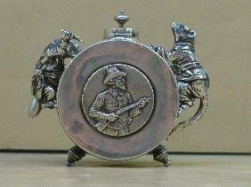 263: RUSSIAN SILVER FIGURAL INKSTAND OR JAR
