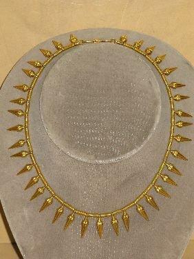 273: CASTELLANI EGYPTIAN REVIVAL GOLD NECKLACE