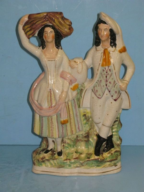 318: STAFFORDSHIRE FIGURE GROUP 'GENTLEMAN & LADY'
