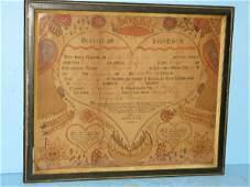 332: PENNSYLVANIA DUTCH FRAKTUR DATED 1807