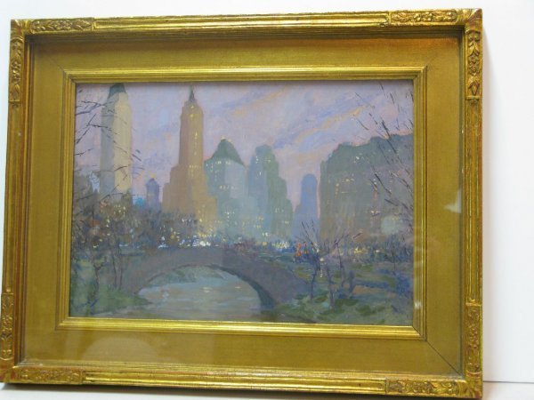 301: EDWARD CUCUEL OIL 'CENTRAL PARK, NY'