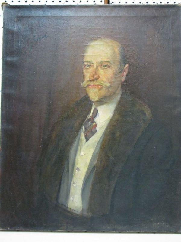 309: EDWARD CUCUEL OIL 'PORTRAIT OF A MAN'