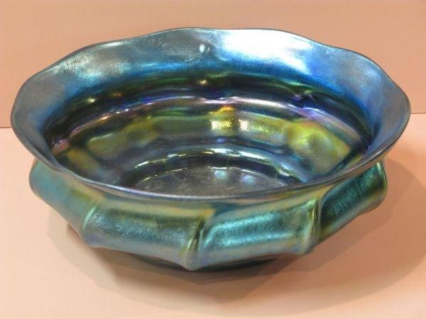 316: TIFFANY FAVRILE BLUE SWIRL BOWL