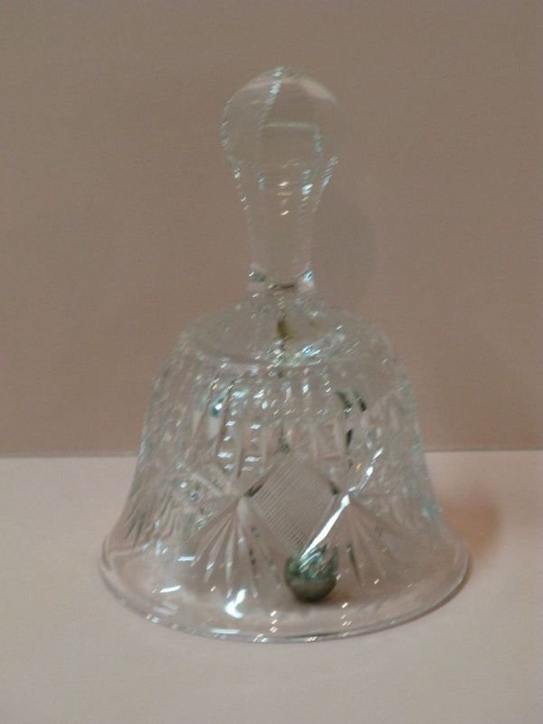319: CUT GLASS BELL IN PITKIN & BROOKS 'PRISM' PATTERN