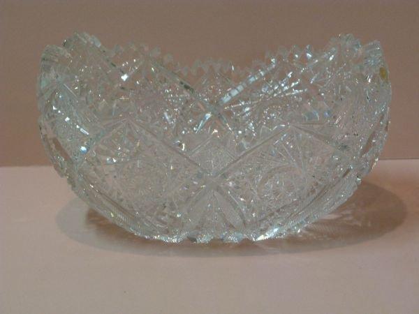 321: CUT GLASS ORANGE BOWL IN 'RIBBON STAR' PATTERN