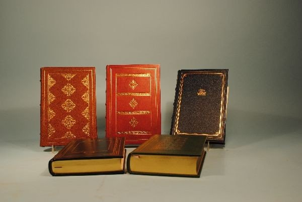 13: 12 FRANKLIN MINT LEATHER BOUND BOOKS