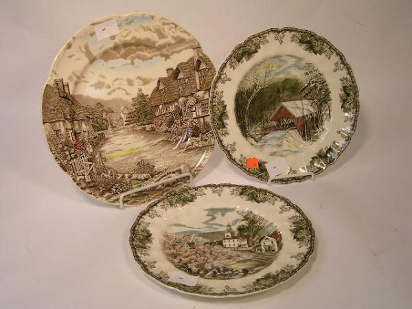 6: SET OF 3 JOHNSON BROTHERS CHARGERS PLATES