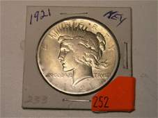 252: U.S. COIN - PEACE DOLLAR - 1921
