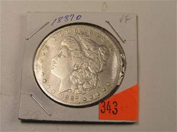 343: U.S. COIN - MORGAN DOLLAR - 1887 O