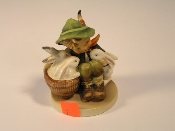 3007: HUMMEL FIGURAL GROUP WITH BUNNIES TMK 3 - BOY WIT