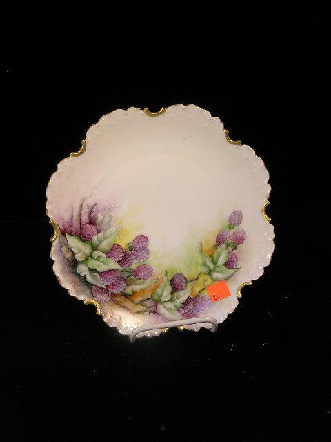 3021: ANTIQUE ROSENTHAL HAND PAINTED CHINA PLATE
