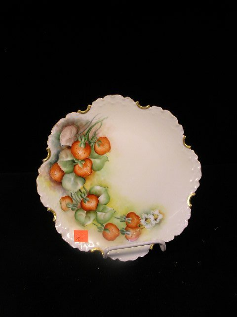 3022: ANTIQUE ROSENTHAL HAND PAINTED CHINA PLATE