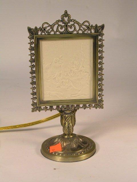 2013: ANTIQUE STYLE LITHOPANE LAMP