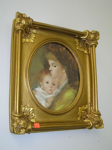1002: VICTORIAN STYLE MOTHER & CHILD PICTURE