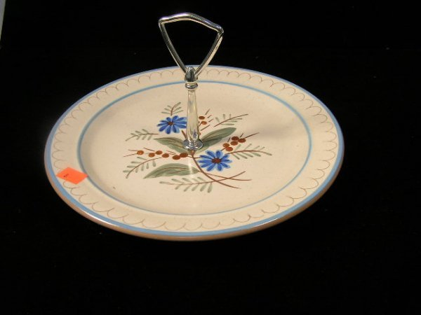 1008: STANGL POTTERY BLUE DAISY SERVING PLATE