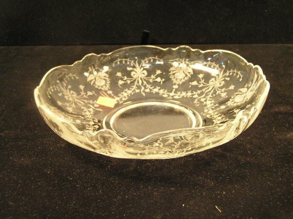 1021: HEISEY ORCHID CONSOLE BOWL