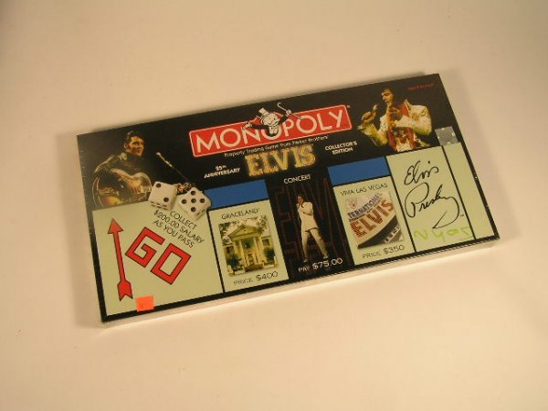 1010: ELVIS MONOPOLY GAME - 25TH ANNIVERSARY - COLLECTO