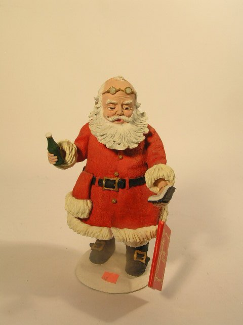 1045: DUNCAN ROYALE SANTA FIGURINE - SODA POP SANTA