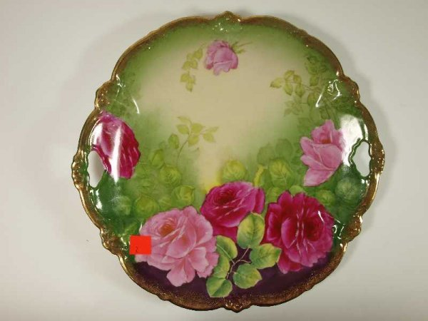 2002: ANTIQUE HAND PAINTED GERMAN CHINA PLATE