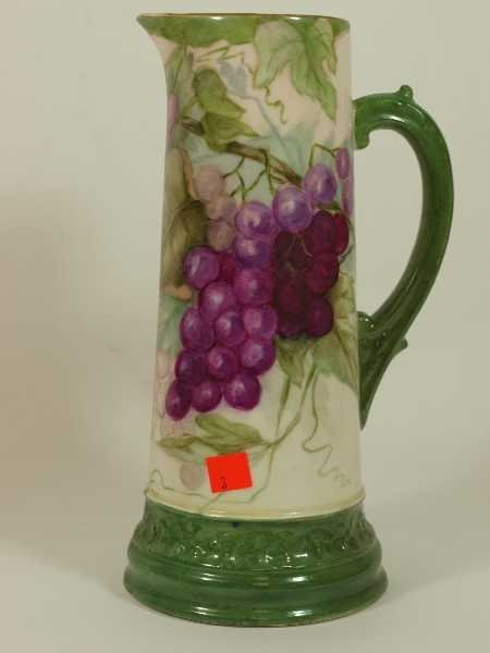 2003: ANTIQUE HAND PAINTED CHINA EWER - TV FRANCE