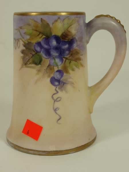 2004: ANTIQUE HAND PAINTED LIMOGES TANKARD