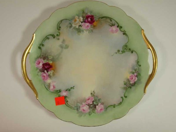 2010: ANTIQUE HAND PAINTED CHINA TRAY