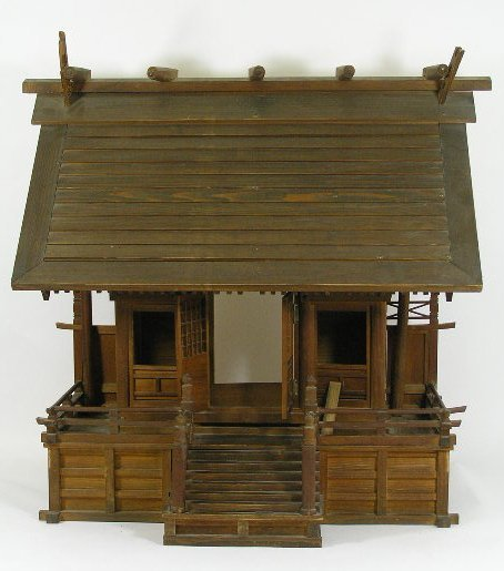 1: ANTIQUE JAPANESE SHINTO - RARE WOODEN SCULPTURE