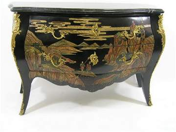 49: ANTIQUE STYLE FRENCH BOMBAY ORMULU CHEST