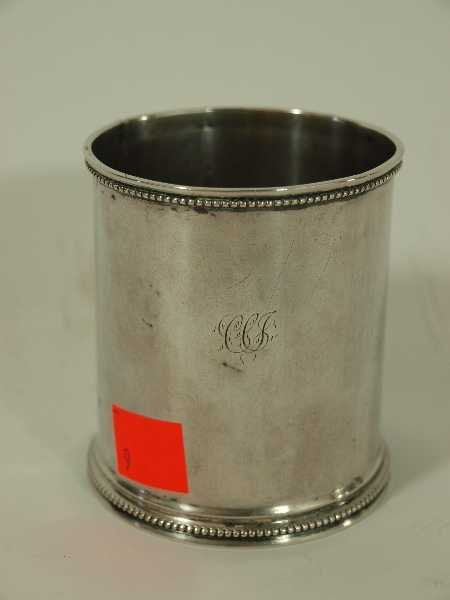 9: EARLY AMERICAN STERLING BEAKER