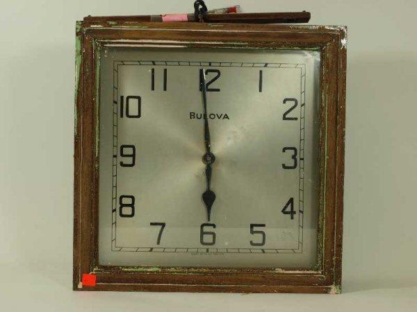 13: VINTAGE BULOVA WALL CLOCK