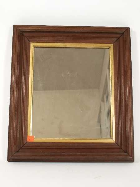 14: EARLY AMERICAN WALNUT FRAME MIRROR