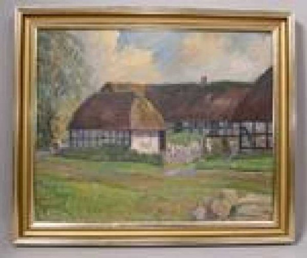 20: DANISH PAINTING NIELS HOLBAK OIL