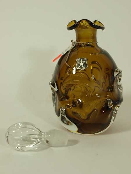 22: VINTAGE GOLDEN CROWN SWEDISH DECANTER