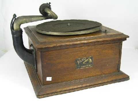 3: Antique Oak Victor Talking Machine - VV-VI