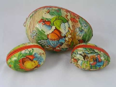 7: Vintage Easter Lot of 3 - German Eggs