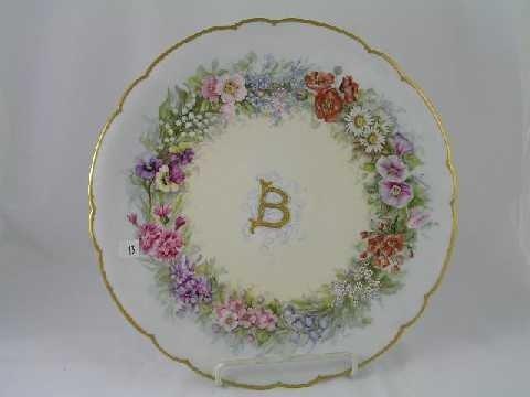 13: Antique Limoges Chop Plate Charger
