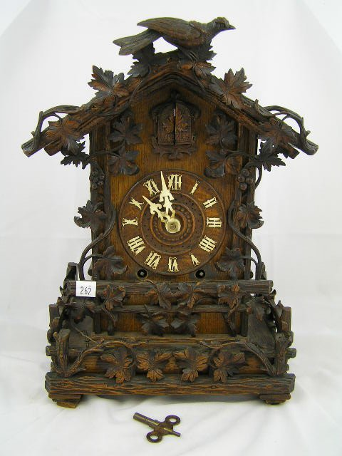 262: Antique 19th C. Black Forest Cuckoo Clock - London