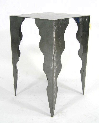 3: CONTEMPORARY SCULPTED CUT METAL TABLE