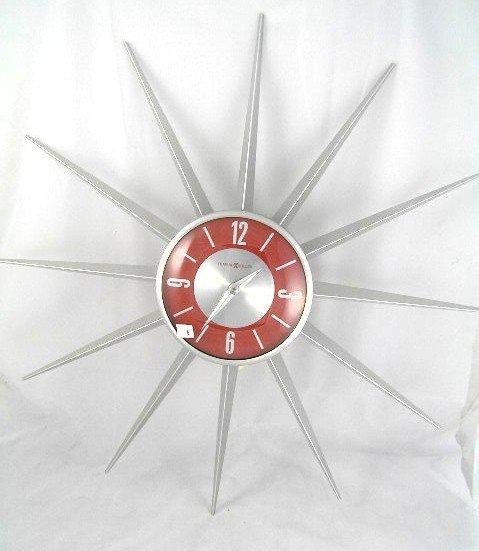 4 Contemporary Howard Miller Sunburst Clock