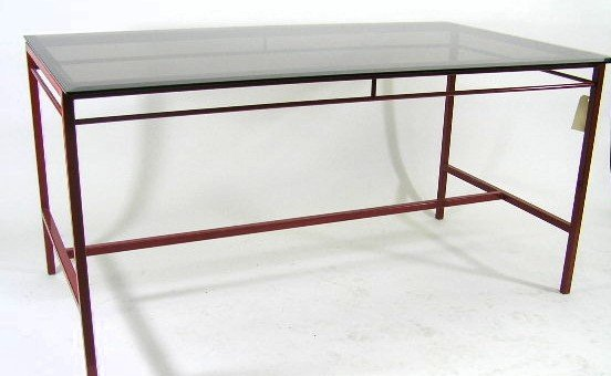 11: CONTEMPORARY CUSTOM RED POWDER COATED TABLE