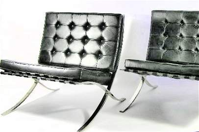 100: PAIR - VINTAGE BARCELONA CHAIRS - KNOLL