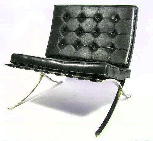 100: PAIR - VINTAGE BARCELONA CHAIRS - KNOLL - 3