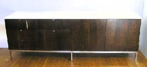 185: FLORENCE KNOLL CREDENZA ROSEWOOD 4-DOOR