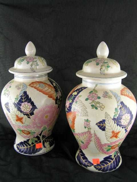 2: Pair - Chinese Porcelain Covered Urns