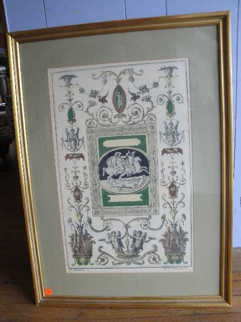 5: Antique Italian Framed Rendering - Gio McCalsini